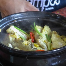 Fish in clay pot