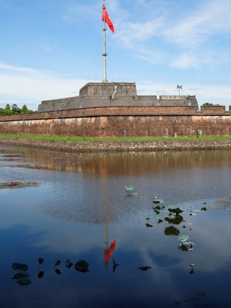 The main entrance to the Imperial City and the flagpole the Viet Cong hoisted their flag up on when they took the city