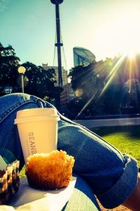 Taking a break in Hyde Park