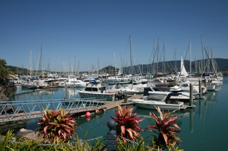 The marina at Airlie