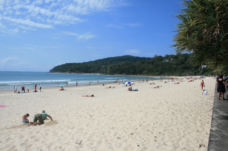 The beach at Noosa