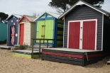 Beach huts in Mornington