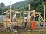 Getting to work on our toilet block