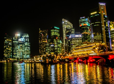 Singapore is stunning at night