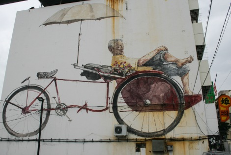 'The Awaiting Trishaw Paddler' by Desmond Yeo