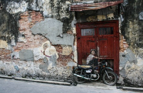 'Boy on a Bike' Mural, Ah Quee Street, George Town