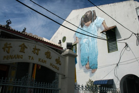 'Little Girl in Blue' Mural, Muntri Street, George Town, Penang.