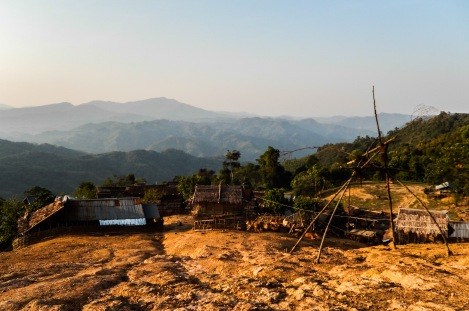 Village in Phongsaly, Laos.