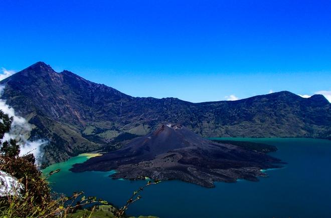 Mount Rinjani, volcano, Lombok, Indonesia.