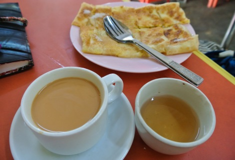 Paratha and sweet tea