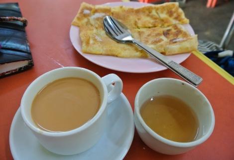 Paratha and sweet tea